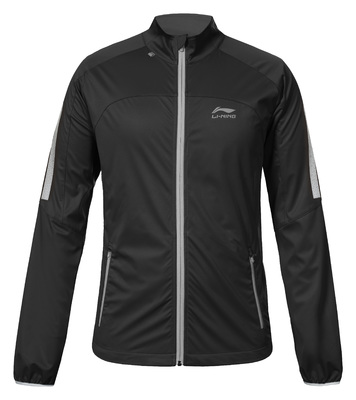 Men's running jacket - STAN [black]