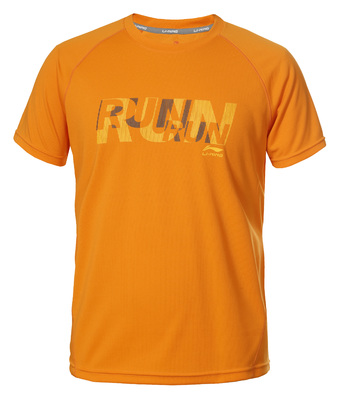 Stuart T-shirt met RUN print oranje color 466