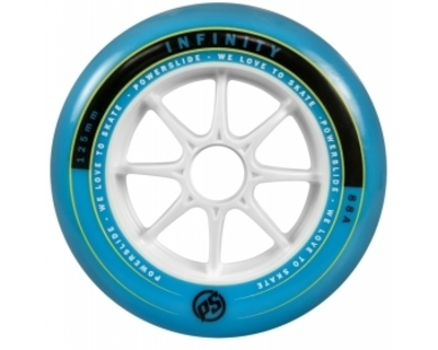 Infinity Weel 125mm/88a, Pcs. blue/white