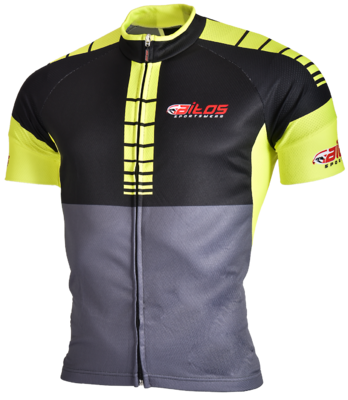 Time-out wielershirt km Yellow