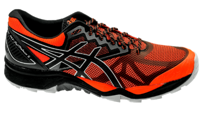 Asics FujiTrabuco 6 shocking orange/dark grey