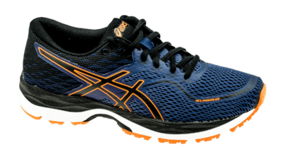 Asics Cumulus 19 GS indigo blue/black/shocking orange [kids]