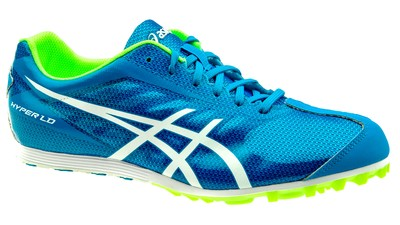 Asics Hyper LD 5 spikes Deep Blue/flash yellow heren