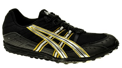 Asics Hyper XC Spikes Heren Black/Lightning/Gold