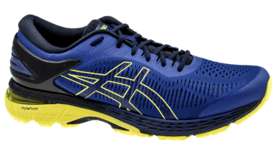 Kayano 25 asics blue/lemon spark