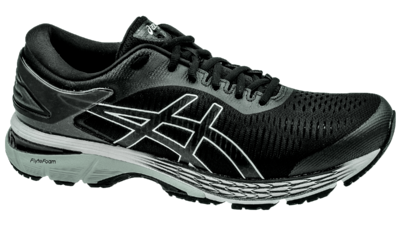 Kayano 25 asics black/glacier grey