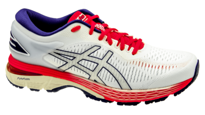 Kayano 25 white/white