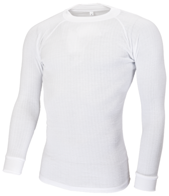 Avento Thermoshirt Heren Wit (lange mouw)