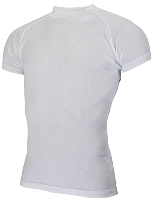 Avento Base Layer White short sleeve crew neck shirt - Man