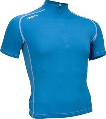 Avento wielershirt korte mouw azuurblauw