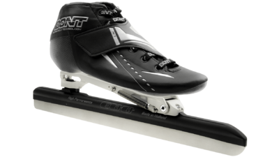 Bont Jet Black met Evo Chrome