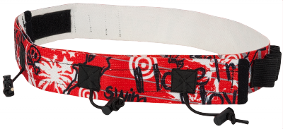 Superrun Race numberbelt with 6 loops for gel. Red
