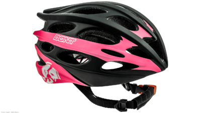 Inline skate helmet matt black/pink