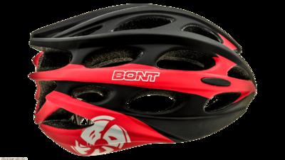 BontInline skate helmet matt black/red