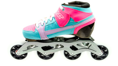 Bont Pursuit Skate Fluor Pink/Light Blue Skate Kids 84mm
