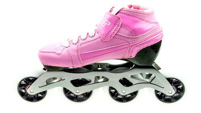Bont Pursuit Skate Pink/White Skate Kids 84mm