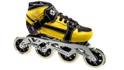 Bont Pursuit Skate Yellow/Black Skate Kids 84mm