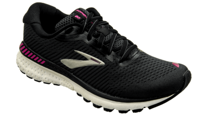 Brooks Adrenaline GTS 20 black/white/hollyhock [2A NARROW]