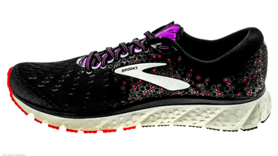 Brooks Glycerin 17 black/fiery coral/purple