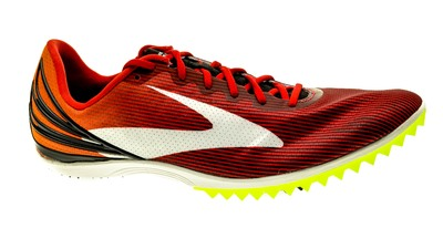 Brooks Mach 17 Spikes Highriskred/exuberance/black