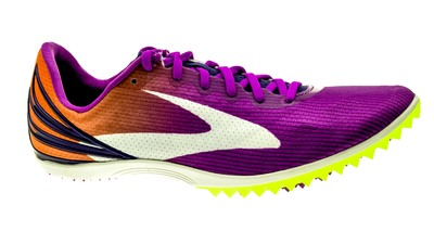Brooks Mach 17 Spikes purplecactus-orangepopsicle-blueprint