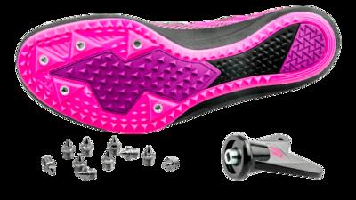 Brooks Women's Mach 19 black/hollyhock/pink