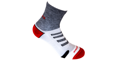 Brooks Unisex Ravenna Lightweight Sock [asphalt/red]