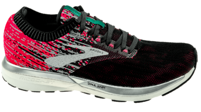 Brooks Ricochet pink/black/aqua