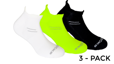 Unisex Run-In 3-pack socks [white/nightlife/black]