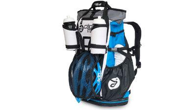 d61c248a51b Versatile fiets en triathlon sporttas/rugtas - blauw/wit