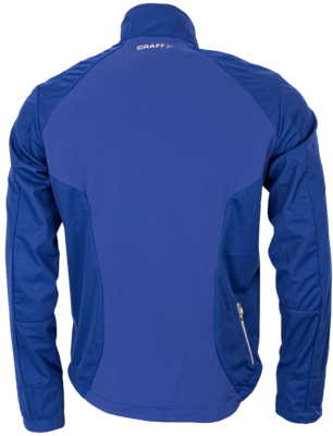 Craft Softshell Jack  blauw