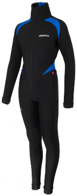 Thermo schaatspak colorblock black/blue