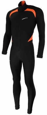 Craft Thermo suit colorblock black/orange
