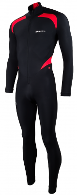 Thermo suit colorblock noir/rouge