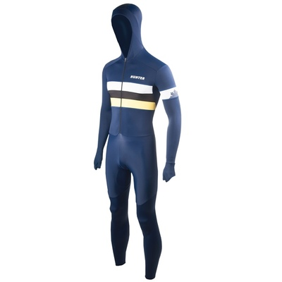 Hunter Speedsuit RTR lycra met cap Retro Navy-yellow