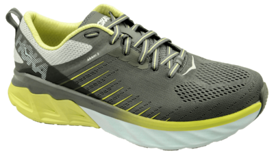 Hoka One One Arahi 3 charcoal gray/lime sherbet