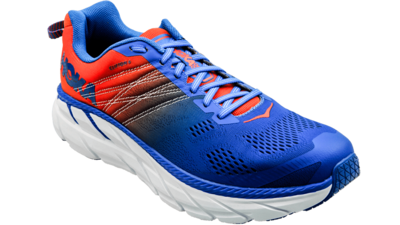 Hoka One One Clifton 6 mandarin red/imperial blue