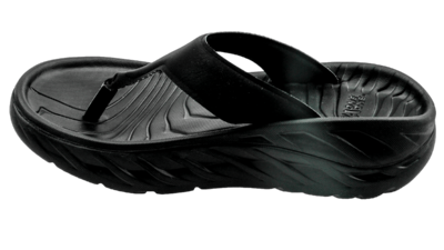 Hoka One One Women's Ora recovery flip - herstel slippers - black / dark gull gray