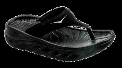 Hoka One One Women's Ora recovery flip - herstel slippers - black / dark gull gray
