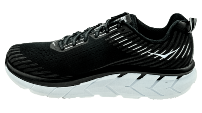 Hoka One One Clifton 5 black/white [WIDE]