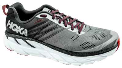 Hoka One One Clifton 6 gull/obsidian [WIDE]