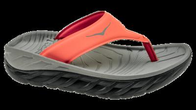 Women's Ora recovery flip - herstel slippers - ebony/ember glow