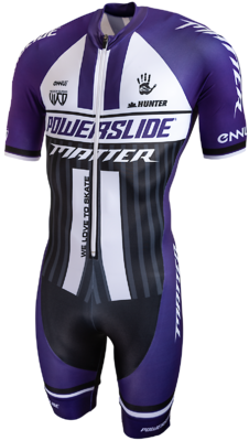 Powerslide Inline Skinsuit World purple sleeve 2019