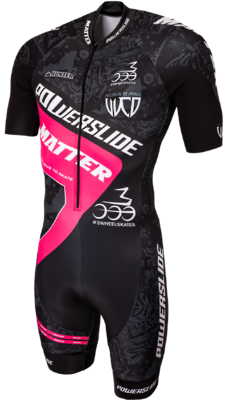 Powerslide Inline Skinsuit World Black/Pink 2017