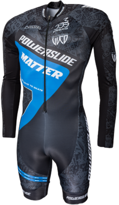 Powerslide Inline Skinsuit Speed World Blue 2017 Long Sleeve