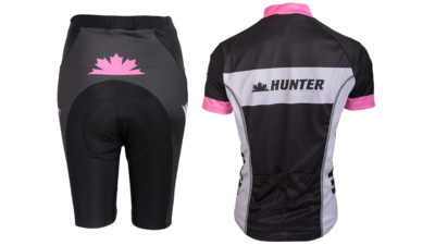 Hunter Fietstenue Kort Perfect Pink