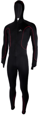 Hunter Speedpak lycra Pro with cap Black/Rot
