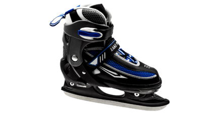 Lake Placid Hockey Skate Adjustable Black/Blue