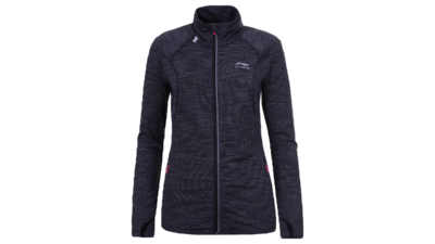 Women's running jacket - HEDY [dark grey/black]