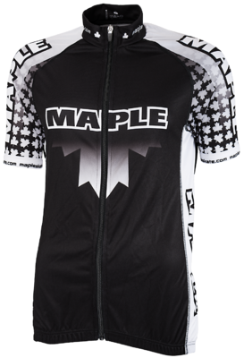 Maple Wielershirt Zwart/wit